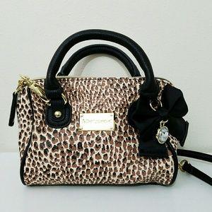 Betsey Johnson Animal Print Handbag Purse